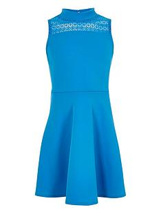 river-island-girls-blue-lace-panel-scuba-dress