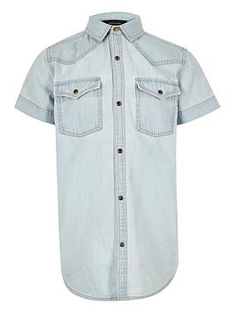 river-island-boys-light-blue-western-denim-shirt