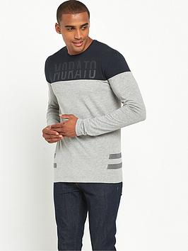 antony-morato-contrast-ls-tshirt