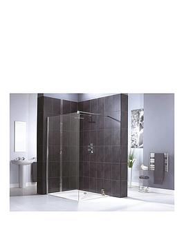 aqualux-shine-shower-panel-1200mm-amp-aqua-25-sphere-shower-tray-1200mm-x-760mm