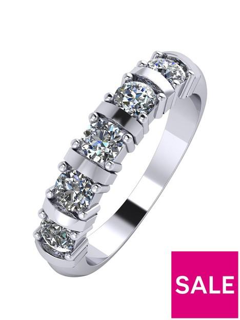 moissanite-platinum-1ct-moissanite-5-stone-eternity-ring