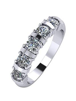 moissanite-platinum-1ct-moissanite-5-stone-eternity-ring