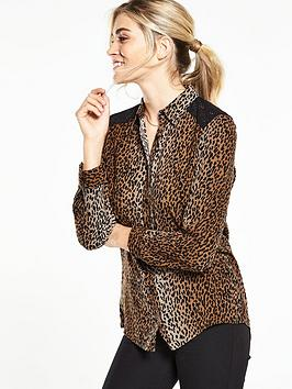 v-by-very-animal-print-lace-shirt