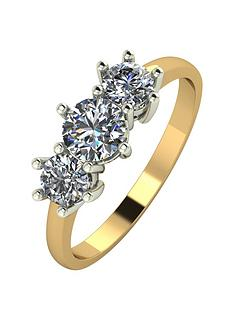 moissanite-9ct-gold-1-carat-trilogy-ring