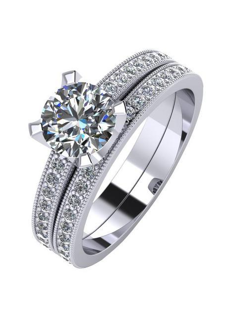 moissanite-platinum-14ct-two-piece-bridal-set