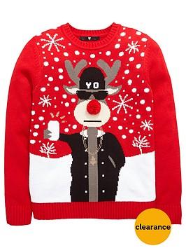v-by-very-boys-rudolph-selfie-christmas-knit-jumper
