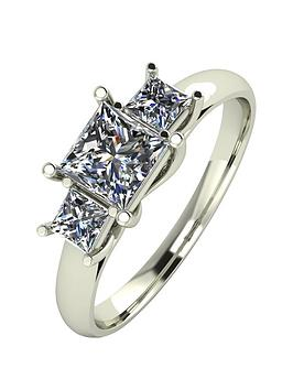 moissanite-9ct-gold-1ct-3-stone-square-cut-ring