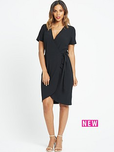 rochelle-humes-wrap-front-dress