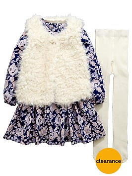 mini-v-by-very-girls-fauxnbspfur-gilet-floral-dress-and-tights-set
