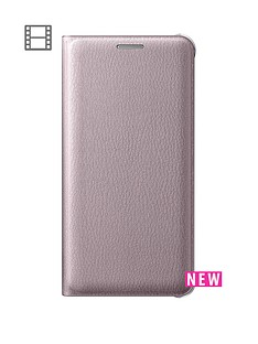 samsung-samsung-a3-flip-wallet-cover-pink-gold