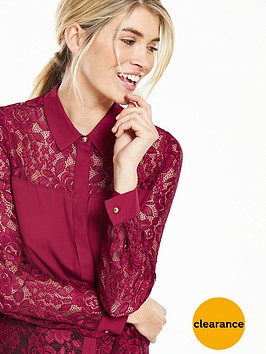 v-by-very-lace-panel-shirt