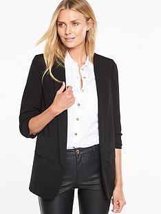 v-by-very-longerline-ruched-blazer