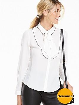 v-by-very-contrast-trim-tie-blouse