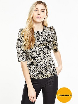v-by-very-jacquard-half-sleeve-topnbsp