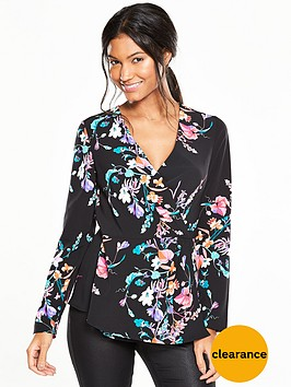 v-by-very-wrap-front-floral-blousenbsp