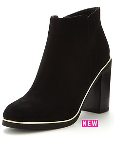 v-by-very-caragold-trim-ankle-boot-black