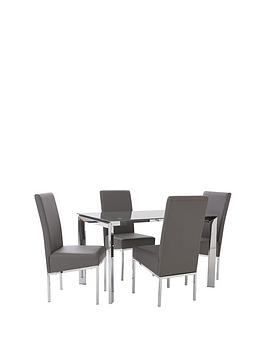 matrix-122-cm-glass-and-chrome-dining-table-4-faux-leather-chairs-grey