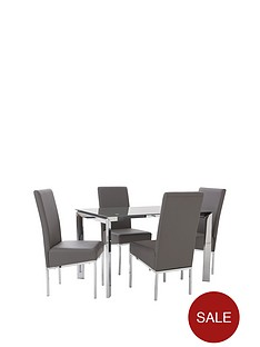 matrix-glass-and-chrome-dining-set