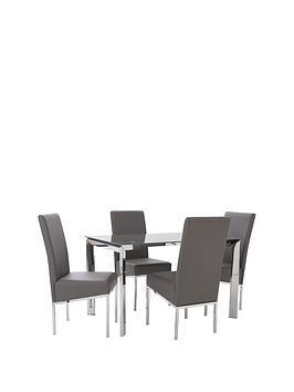 matrix-glass-and-chrome-dining-set