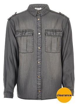 river-island-girls-grey-wash-oversized-shirt
