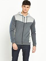 Colour Blocked Hooded Top