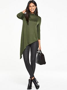 v-by-very-roll-neck-split-side-tunic