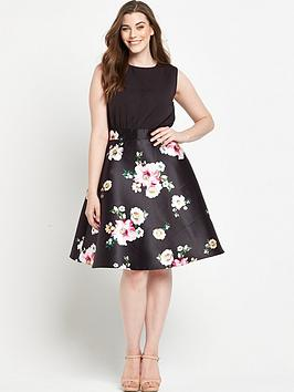 ax-paris-curve-midi-skater-dress