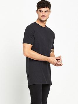 river-island-longline-zip-detail-t-shirt