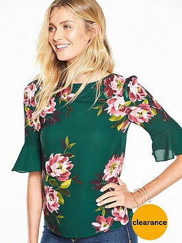 oasis-mandy-fluted-sleeve-top