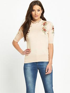 oasis-embroidered-frill-knit