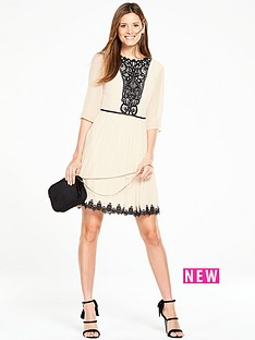 oasis-rosie-lace-yoke-pleat-dress