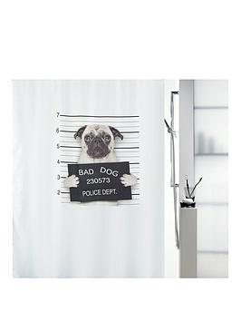 Spirella Bad Dog Shower Curtain 180 X 180cm