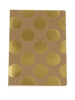 go-stationery-shimmer-gold-polka-kraft-a5-amp-a6-notebooks