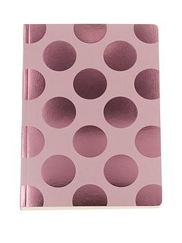 go-stationery-shimmer-blush-polka-a5-amp-a6-notebooks
