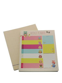 go-stationery-owls-weekly-planner