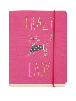 go-stationery-love-cats-crazy-lady-a6-notebook