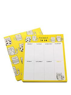 go-stationery-love-cats-weekly-planner