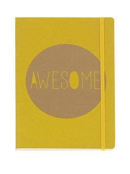 go-stationery-kraft-typo-awesome-a5-notebook