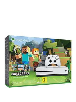 xbox-one-s-s-500gb-console-with-minecraft-favourites-and-optional-extra-controller-andor-12-months-xbox-live-gold