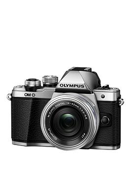 olympus-e-m10-mark-ii-compact-system-camera-with-14-42-mm-f35-56-ez-zoom-lens-ndash-silver-save-pound30-with-voucher-code-mjxal