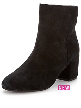 miss-selfridge-miss-selfridge-60039s-clean-suede-ankle-block-heel-boot