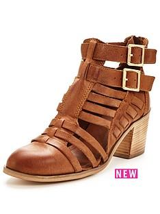 miss-selfridge-black-strap-leather-boot