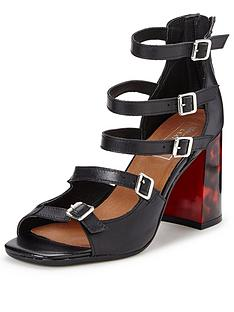 miss-selfridge-suva-leather-buckle-heel-sandalsnbsp