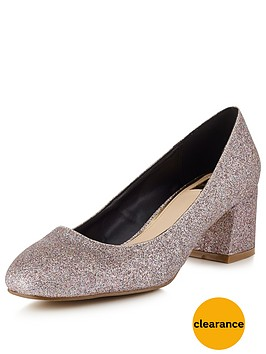 miss-selfridge-metallic-scallop-heeled-shoenbsp