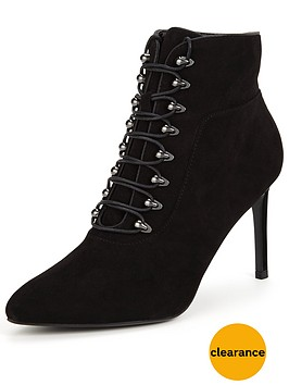 miss-selfridge-point-lace-up-bootnbsp