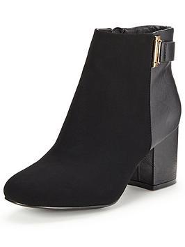 miss-selfridge-clean-buckle-ankle-bootnbsp