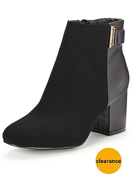 miss-selfridge-clean-buckle-ankle-bootnbsp