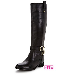 v-by-very-clarissa-leather-gold-buckle-and-zip-bootnbsp