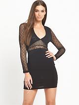 Long Sleeve Dress - Black