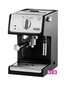 delonghi-ecp-traditional-pump-coffee-machine-silverblack